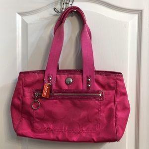 Hot pink Coach bag